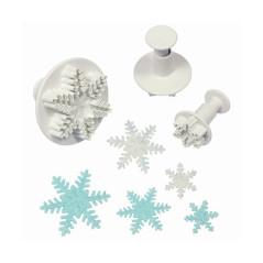 3 Emporte-pièces Poussoir Flocon de Neige
