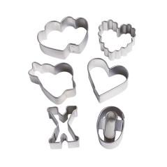 Mini Emporte-pièces Love (Lot de 6)