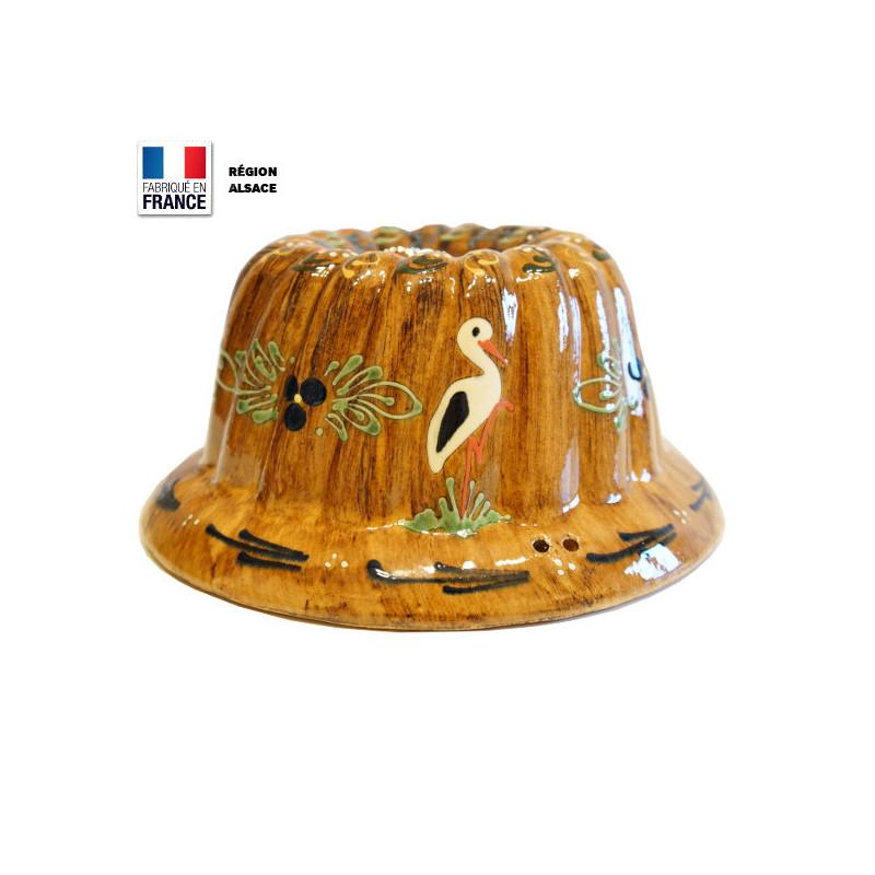 Moule à Kouglof Faux Bois 24 cm Décor Cigogne
