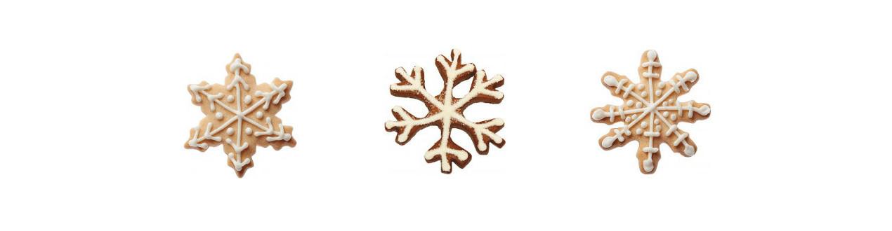 Emporte-pièces en forme de flocon - Emporte-pièces flocons de neige